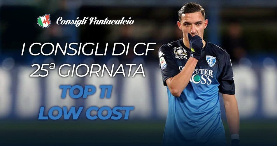 Scommesse low cost 25ª giornata